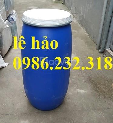 Thùng phuy nhựa, thùng đựng dung môi, thùng phuy giá rẻ, thùng phuy