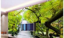 Tranh phong thủy 3d cây cổ thụ