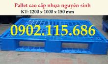 Pallet nhựa KT 1200 x 1200 x 150 mm, Pallet nhựa cũ, pallet nhựa mới