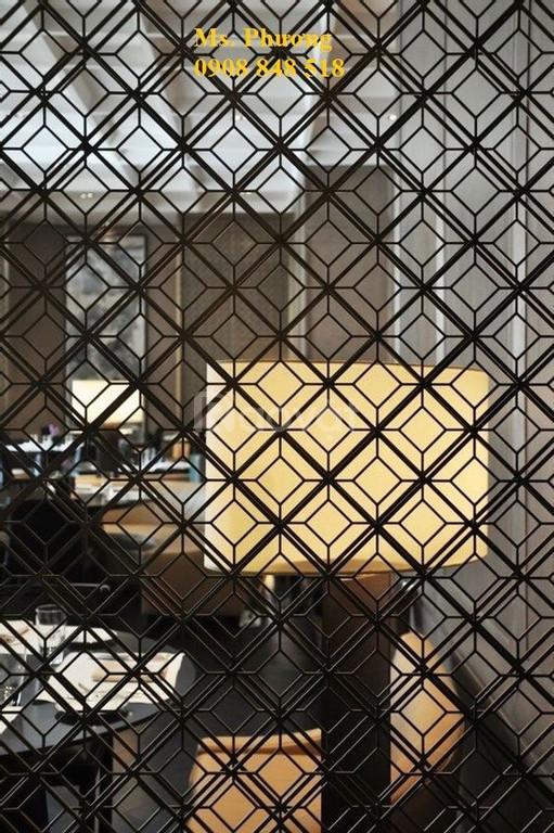 Vách ngăn cắt hoa văn CNC trang trí quán cafe, nhà hàng, spa
