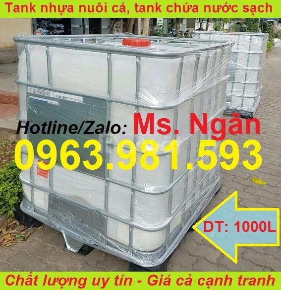 Thùng nuôi cá, tank nhựa 1000l, thùng nhựa đựng hóa chất
