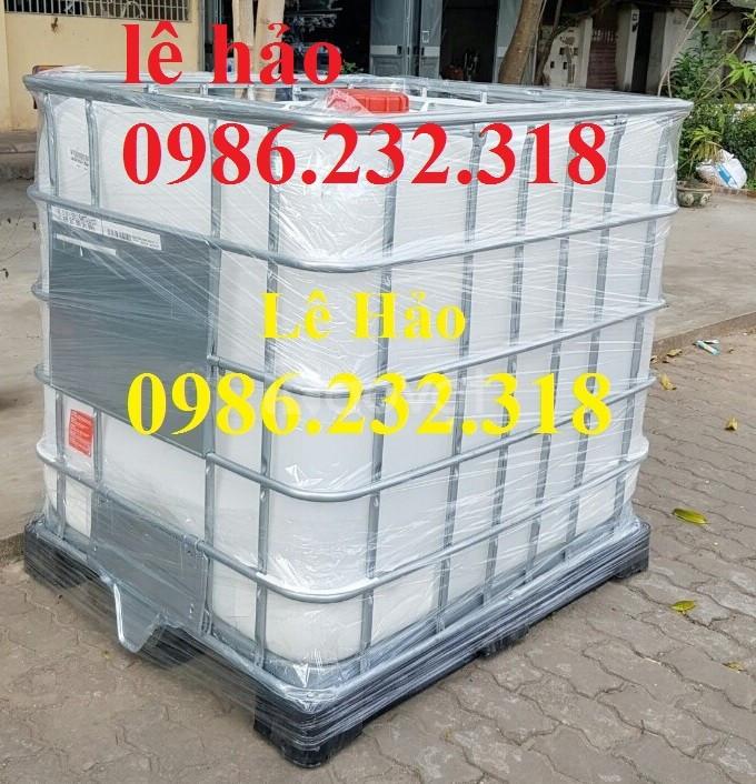 Bồn nhựa 1000l, thùng nhựa 1000l, tank nhựa chứa hóa chất (ảnh 4)