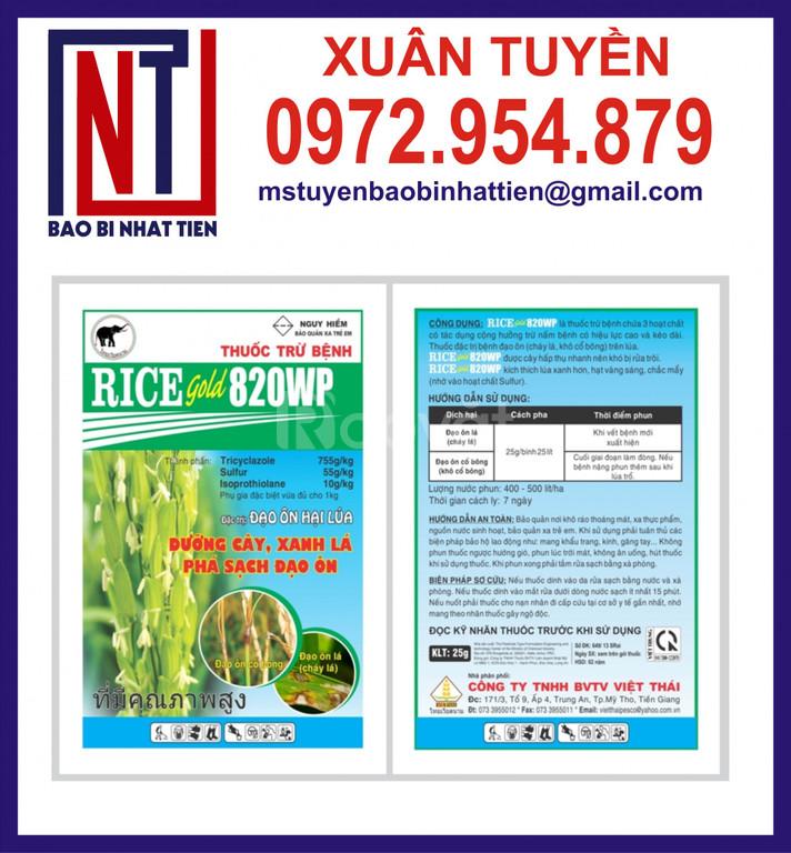 Bao bì thuốc bảo vệ thực vật ép 3 biên
