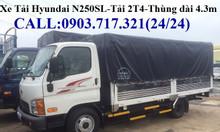 Xe tải Hyundai 2T4 N250 thùng dài 4m3 mới 2019