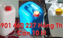 Thùng 10 lít đựng dầu máy, vỏ can nhựa 10 lít rỗng, can 10l đựng