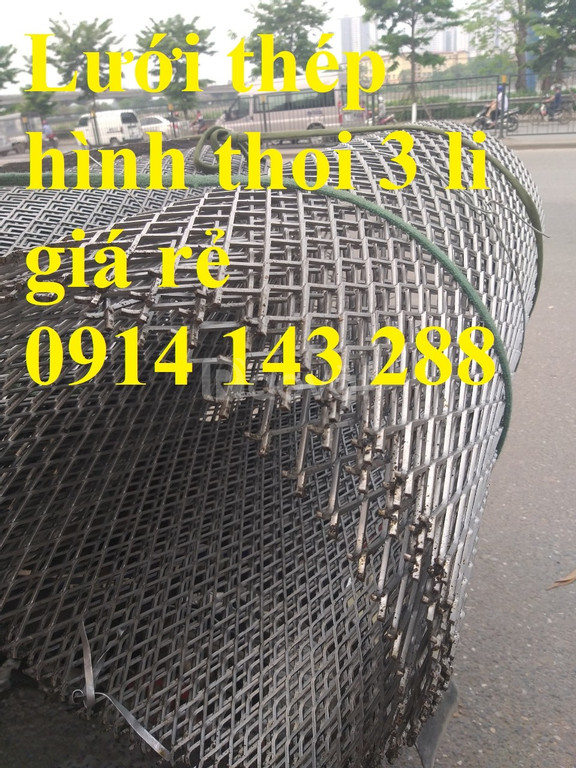 Lưới thép dập giãn dùng làm trang trí dây 2 mắt 20*40mm giá rẻ
