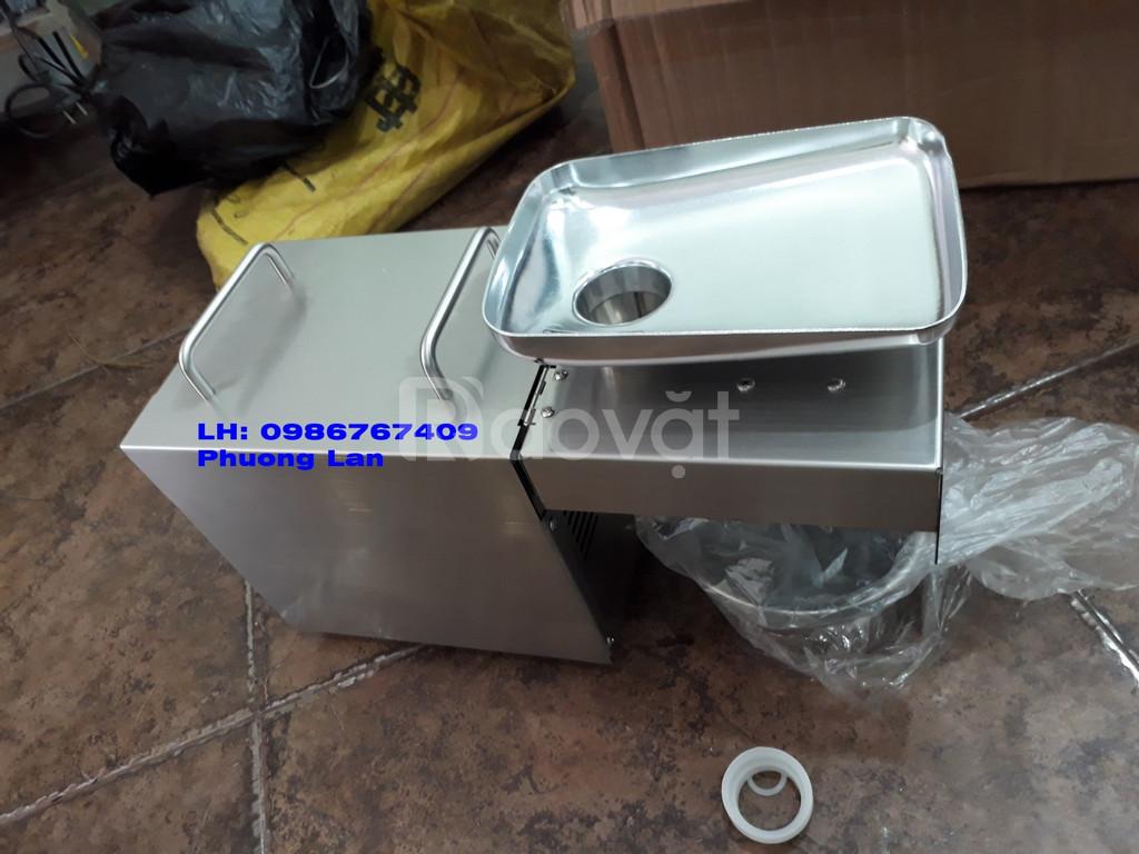 Máy ép dầu lạc gia đình 3-4kg/h inox GD03