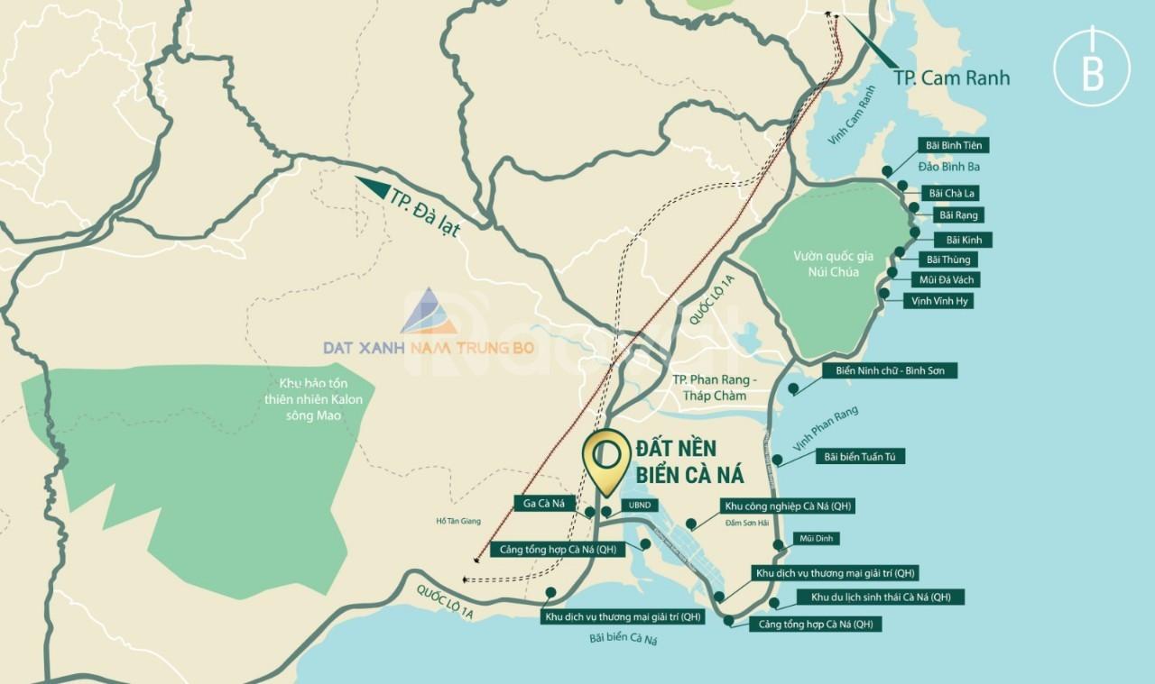 Bán đất nền biển Ninh Thuận, ven QL1A , nằm trong cụ cảng biển Cà Ná
