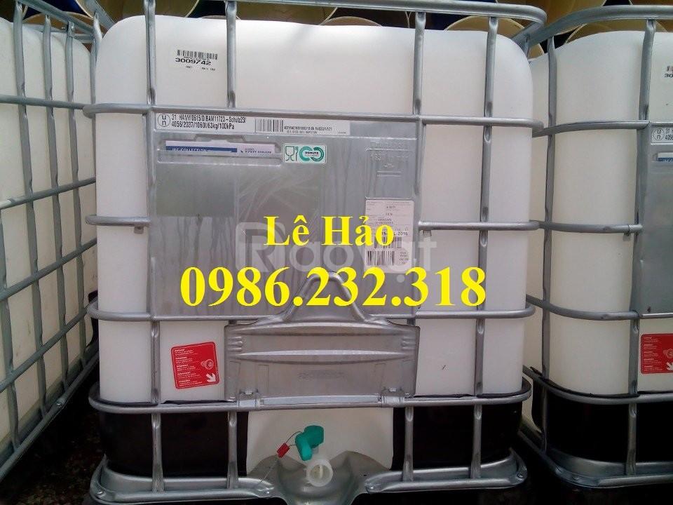 Bồn nhựa 1000l, thùng nhựa 1000l, tank nhựa chứa hóa chất (ảnh 6)