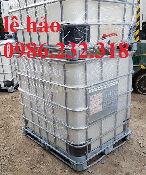 Bồn nhựa 1000l, thùng nhựa 1000l, tank nhựa chứa hóa chất (ảnh 1)