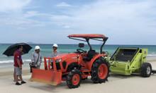 Máy làm sạch bãi biển, xe dọn sạch rác bãi biển Hbarber