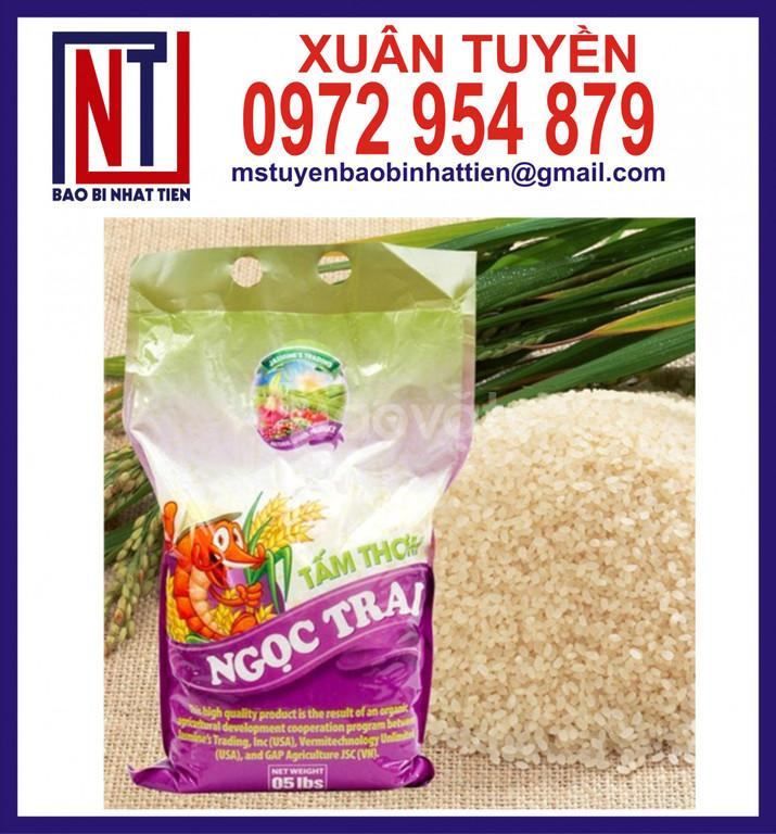 Bao PP dệt in flexo đựng gạo