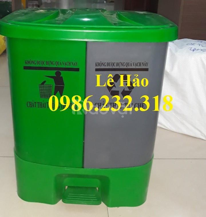 Thùng rác nhựa composite, thùng rác giá rẻ, thùng rác công cộng