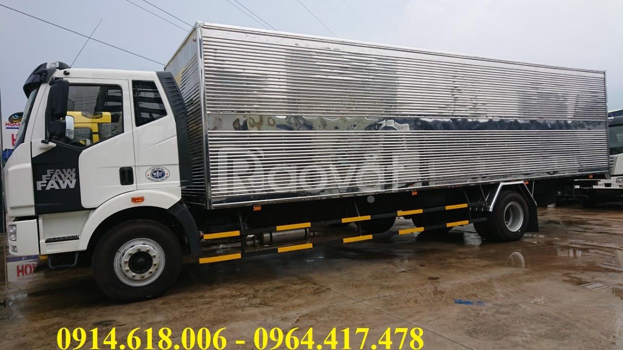 Xe tải FAW 7T25 thùng dài 9m7, xe nhập khẩu giá tốt.