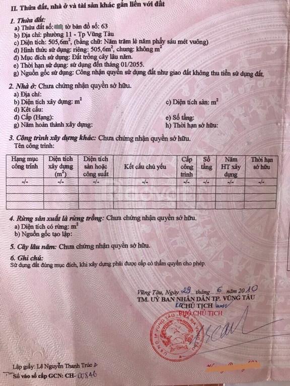 Đất phường 11, hẻm ô tô, nằm trong khu dân cư Khang Linh Vũng Tàu