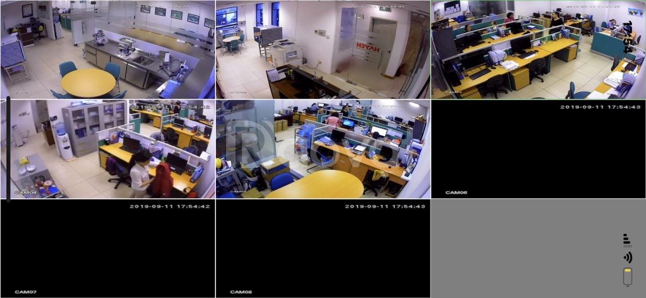 Trọn bộ 5 camera full hd 2.0M (giá 6.850.000đ) bảo hành 3 năm