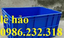 Thùng nhựa giá rẻ, sóng nhựa rỗng, thùng nhựa hs019, thùng nhựa công n