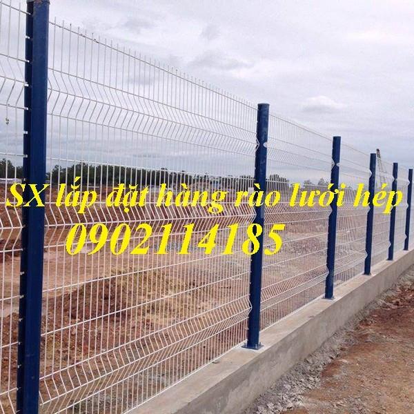 Hàng rào chấn sóng, hàng rào gập đầu, hàng rào sơn tĩnh điện