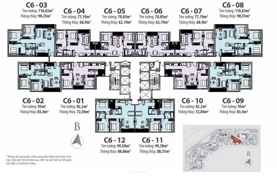 Chính chủ bán cắt lỗ 500tr căn C6-01 72m2 2n 2vs chung cư D'CAPIALE