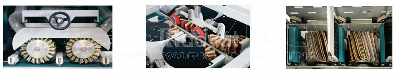 Máy chà nhám chổi 4 mặt - Máy chế biến gỗ Semac