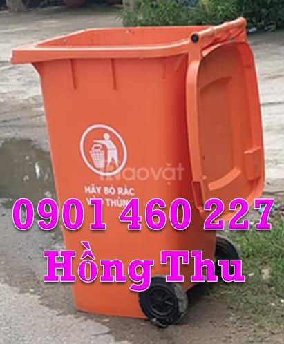 Thùng đựng rác 240 lít giá rẻ,nơi bán thùng rác 120 lít tại TPHCM