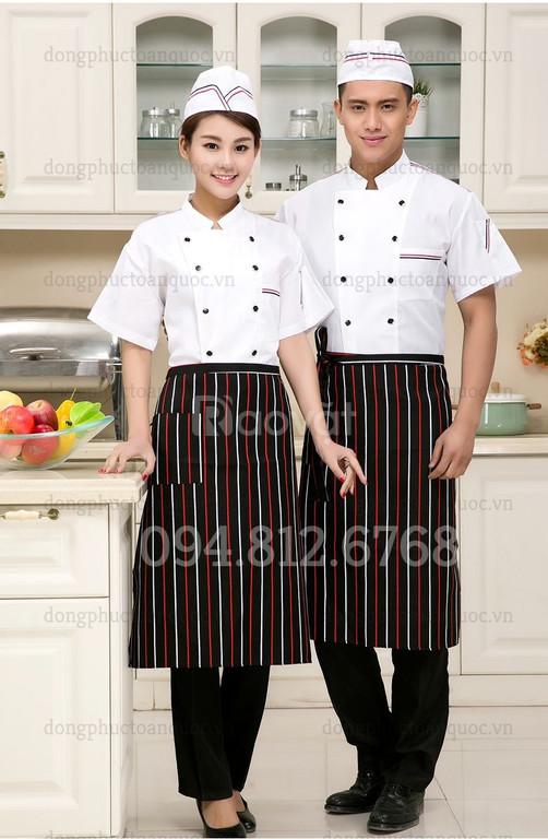Địa chỉ may đồng phục đầu bếp đa dạng mẫu mã, chất lượng sản phẩm