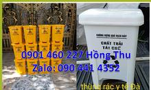 Thùng rác 20 lít màu trắng,thùng đựng rác y tế 15 lít tại TPHCM