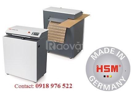 Máy xén thùng carton HSM ProfiPack 425 adapter thổi bụi tự động