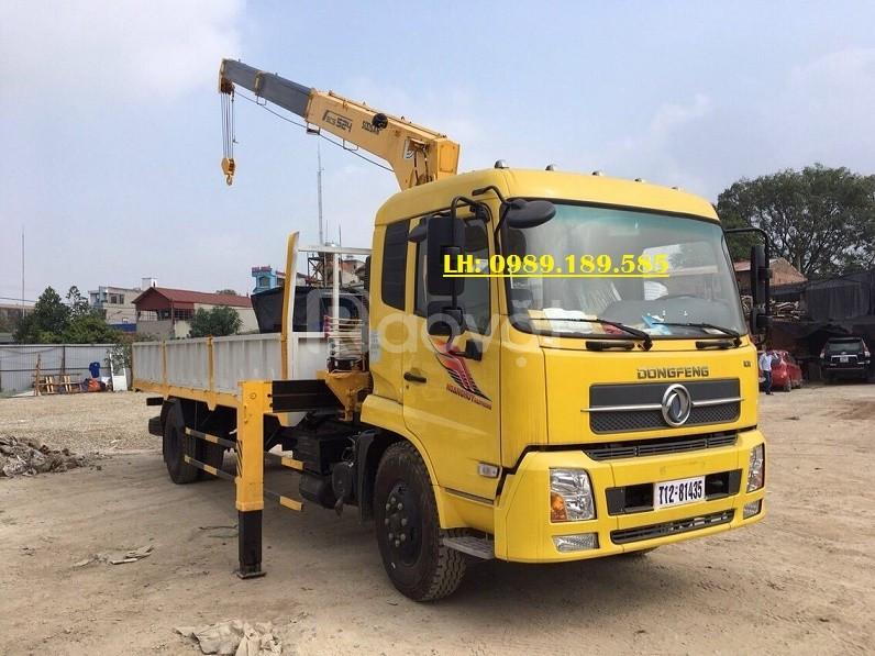 Xe cẩu tự hành Dongfeng B180 lắp cẩu Soosan 5 tấn tại Tuyên Quang
