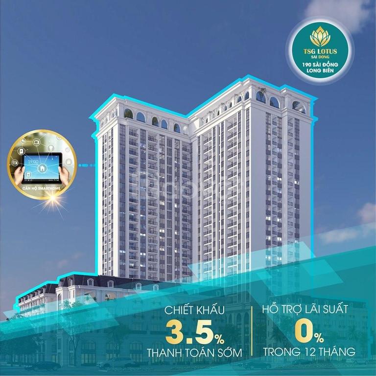 Chỉ còn 2 suất ngoại giao dự án TSG Lotus Long Biên