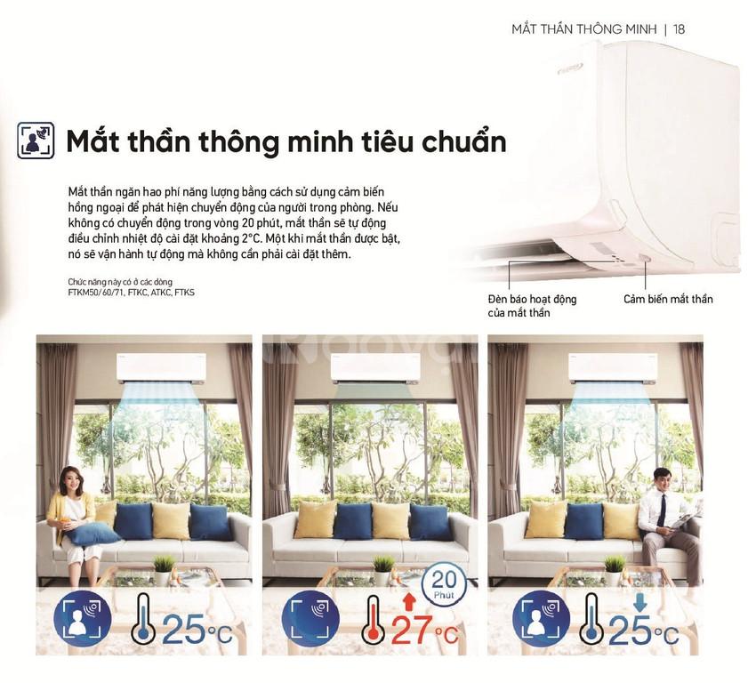 Máy lạnh Daikin Inverter 1.5HP FTKC35UAVMV - Cảm biến mắt thần