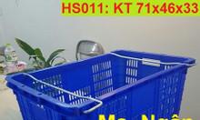 Sọt nhựa HS011, sọt nhựa có quai sắt, sọt nhựa tay cầm HS011