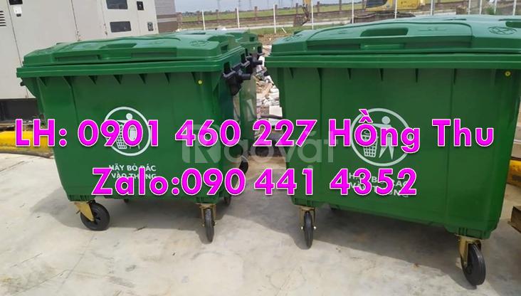 Xe đẩy rác 660 lít giá rẻ, giá xe thu gom rác 1000 lít tại TPHCM