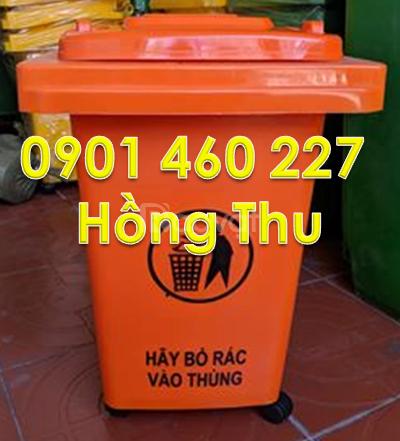 Thùng rác 60l ,thùng rác 60 lít màu vàng,thùng rác 4 bánh xe 60 lít