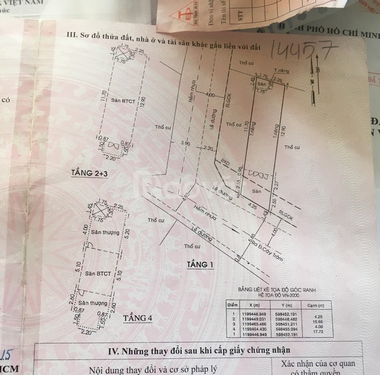 Nhà khu biệt thự Cây Trâm 1T3L dt 4x17 giá 6.8 tỷ