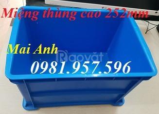 Hộp nhựa B6, khay nhựa đựng linh kiện, thùng nhựa B6, sóng nhựa bít (ảnh 1)