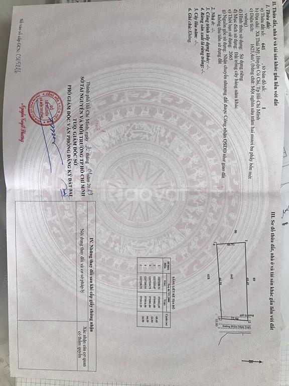 Mặt tiền Đoàn Mình Triết giá rẻ huyện Củ Chi giá 2tr6/m, SHR.