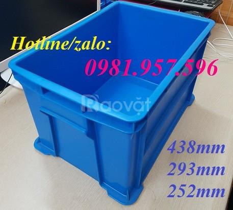 Hộp nhựa B6, khay nhựa đựng linh kiện, thùng nhựa B6, sóng nhựa bít (ảnh 3)
