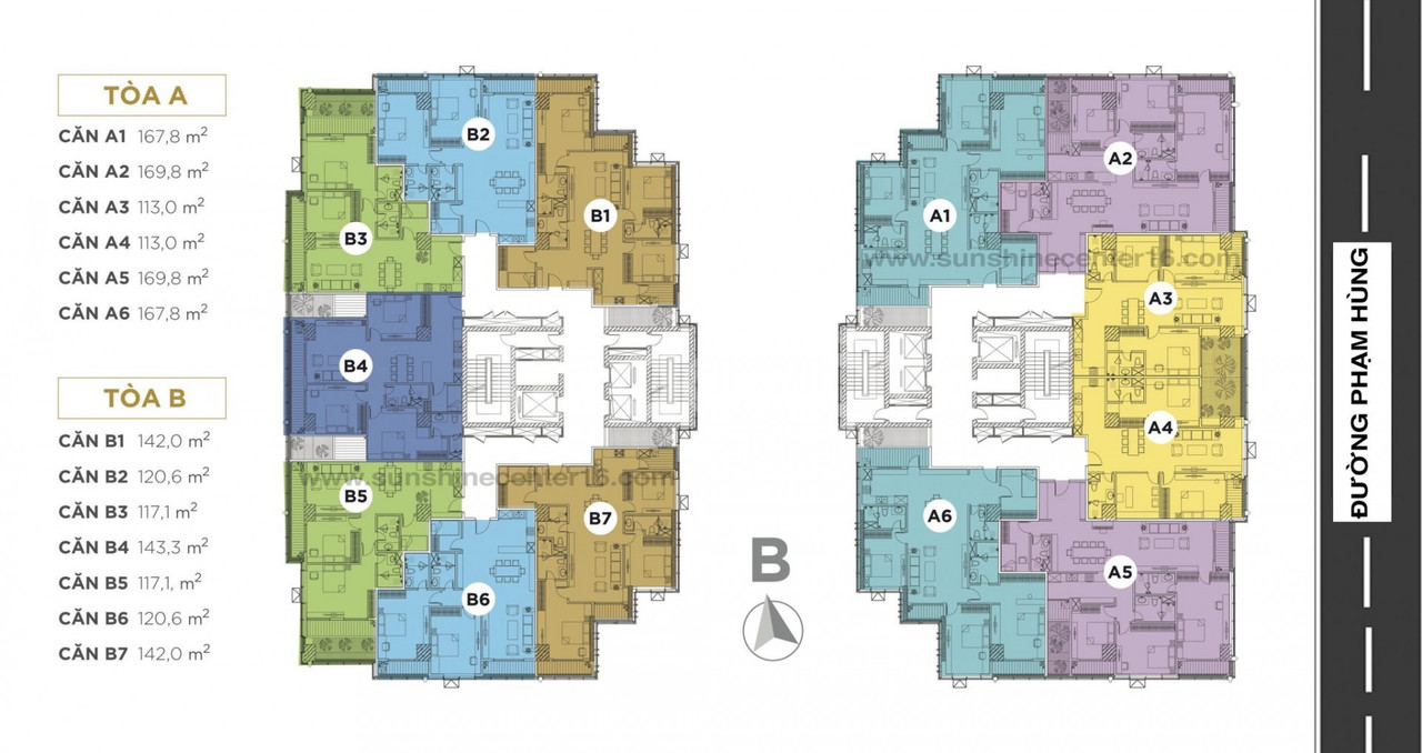 Bán căn hộ 130m2 tại Sunshine Center Mỹ Đình giảm 6% & 6 cây vàng