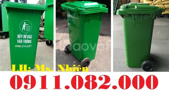 Bán thùng rác nhựa loại 120 lít giá rẻ tại Vĩnh Long, Cần Thơ