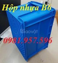Hộp nhựa B6, khay nhựa đựng linh kiện, thùng nhựa B6, sóng nhựa bít (ảnh 4)