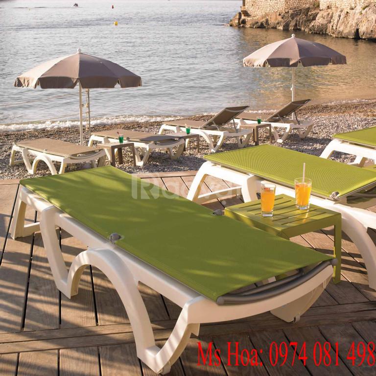 Ghế tắm nắng, ghế nằm ngoài trời, bàn ghế bể bơi (ảnh 8)