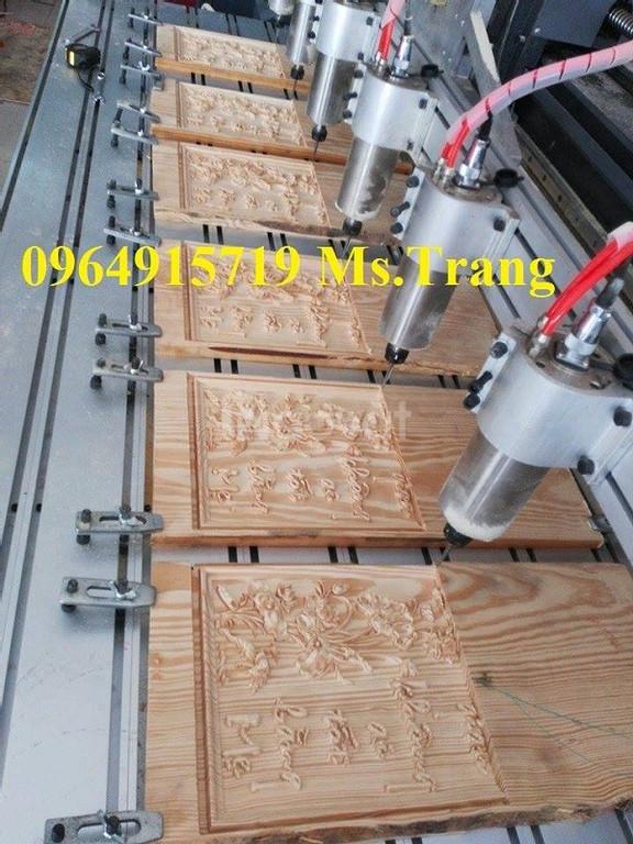 Máy cnc đục gỗ , máy cnc 1825 – 6 củ đục