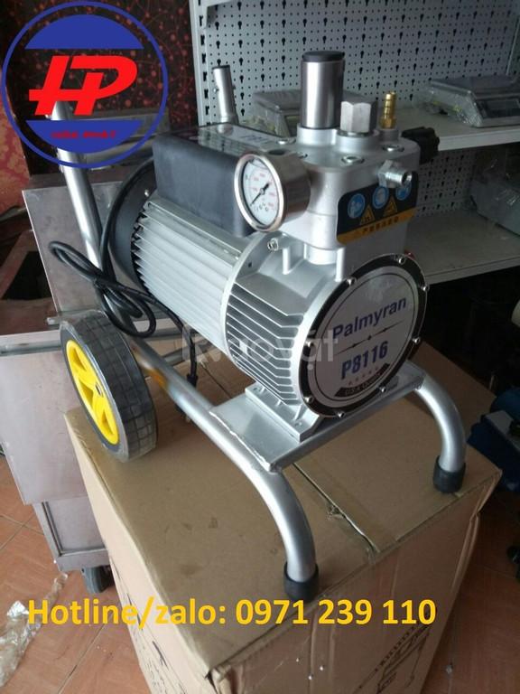 Máy phun sơn Plamyran P8116 kiểu dáng nhỏ gọn công suất lớn giá lại rẻ