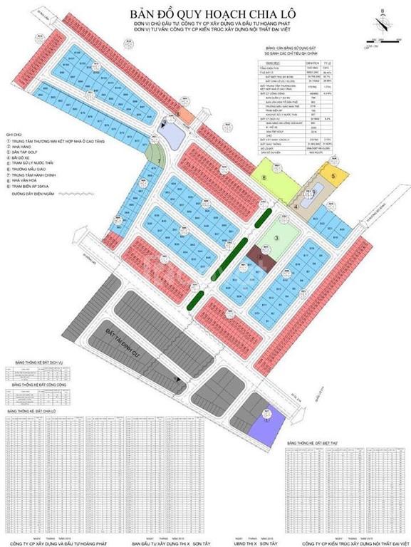 Bán lô đất Dự án  Hòa Lạc Premier Residence - Sơn Tây