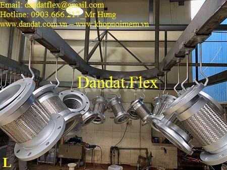 Khớp nối mềm chống rung inox 304 (nối bích inox)