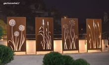 Mặt dựng kim loại hoa văn nghệ thuật trang trí giếng trời nhà phố