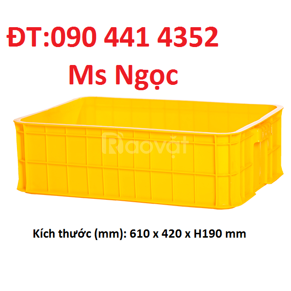 Sóng nhựa HDPE đựng trái cây,rổ nhựa cao cấp tại TPHCM