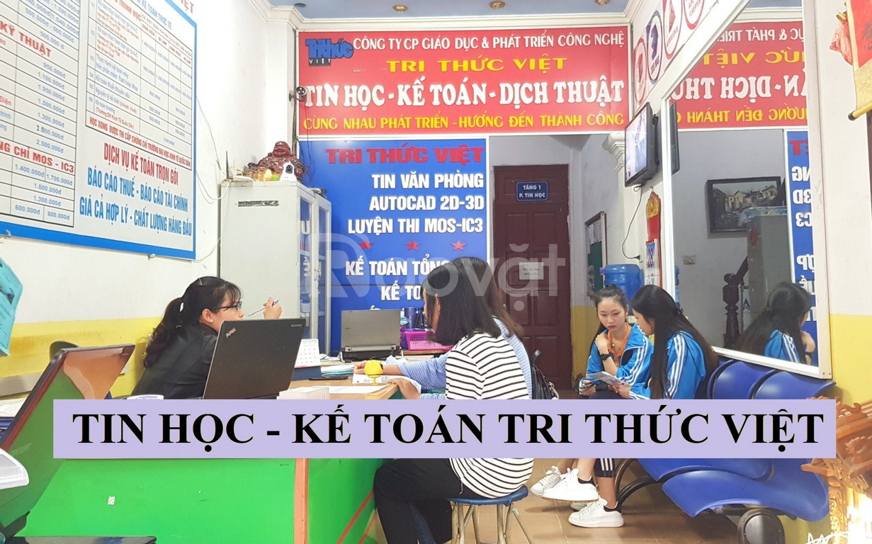 Tuyển sin lớp Tin học văn phòng dạy từ cơ bản đến nâng cao