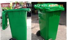 Thùng rác 120 lít 240 lít màu xanh